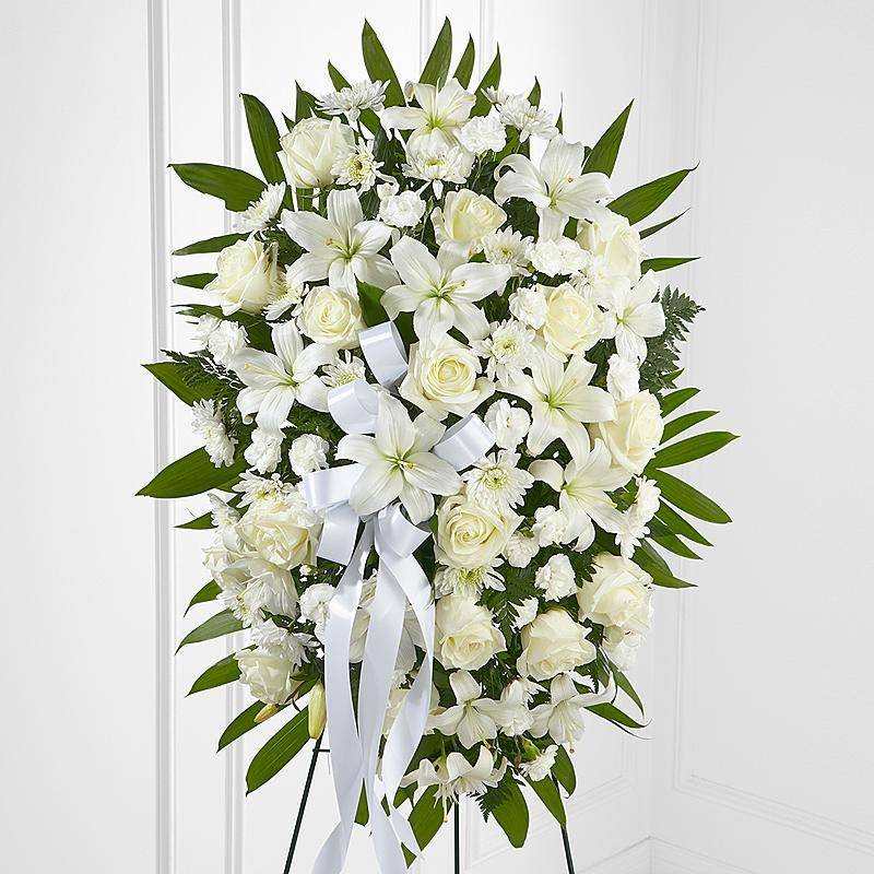 White Rose Funeral Spray