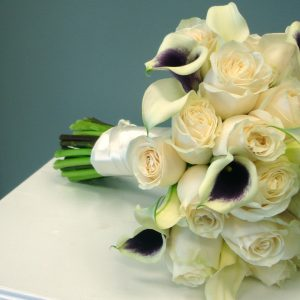 Ivory Rose Bridesmaids Bouquet