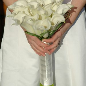 White Cala Brides Bouquet
